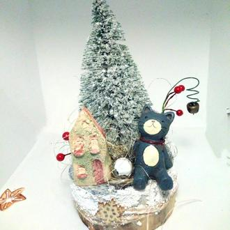 Настольная новогодняя композиция елка на стол