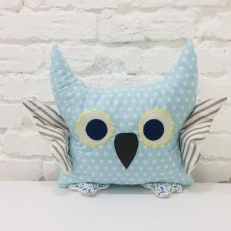 сова подушка-игрушки сплюшки-декор в детскую-подарок девочке на день рожденья