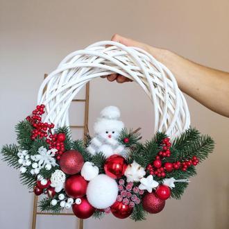 Рождественский венок, венок на дверь