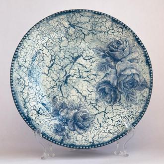 "Тарелка ""Голубые розы"""