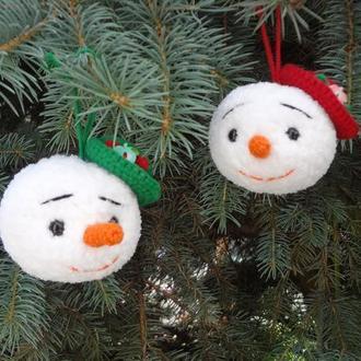 Снеговик. Новогодние игрушки на елку