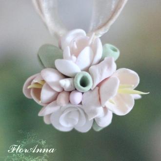 "Кулон с цветами ""Олива"""
