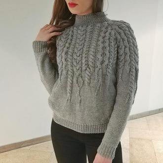 "Женский свитер ""Тающие косы"""
