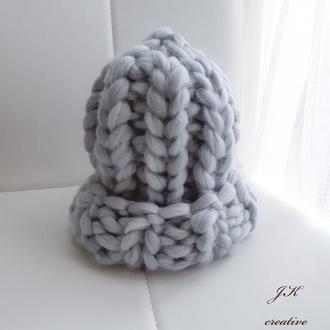 Шапка хельсинки из мериносовой шерсти