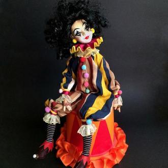 Интерьерная куколка-клоун
