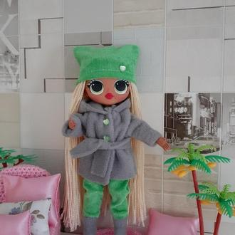Зимний набор одежды для кукол Лол омг.
