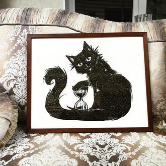 Картина из кофейных зёрен