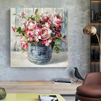 """Интерьерная картина"""" Розы моего сада"""".Холст.Арт-принт.30*30см."""