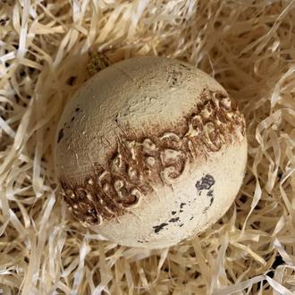 Винтажный шар песочного цвета