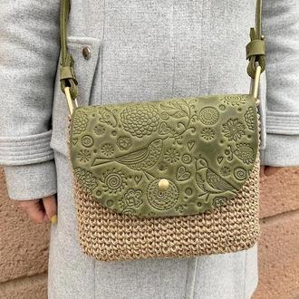 Стильная женская сумка через плечо. Женская сумка на длинном ремешке