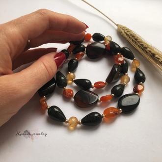 Бусы «Эсмеральда» из натуральных камней