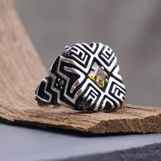 "Серебряное кольцо ""SHIPIBO"" | серебряное кольцо с Цитрином"