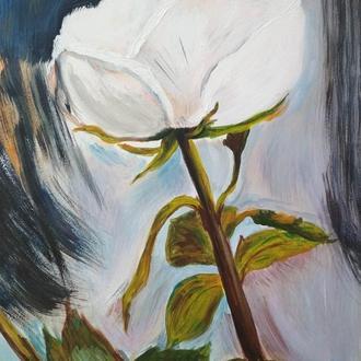 "Картина ""Белая роза"""