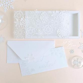 "Gift Box ""Snowy"" - открытка в коробочке"