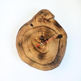 Оригинальные часы из дерева на подарок 200х250