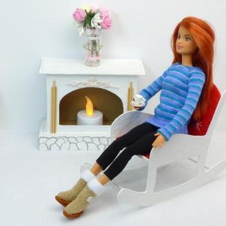Выкройка свитера для куклы Барби