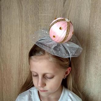 Ободок Бусинки на новогодний утренник Украшение на голову девочке Обруч для волос на праздник