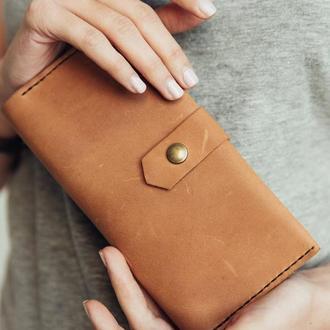 Шкіряний жіночий гаманець / Подарунок для неї / Подарунок мамі / Шкіряний гаманець ручної роботи / Подарунок