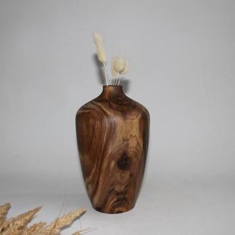 Декоративна ваза для сухоцвітів із дерева