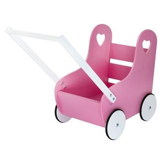 Деревянная коляска для кукол от WoodAsfun, розовая