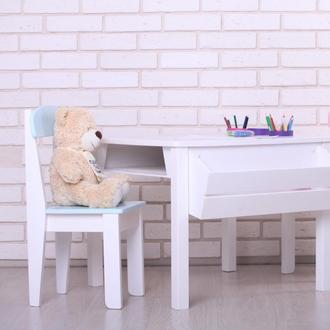 Детский столик и стульчик, деревянный