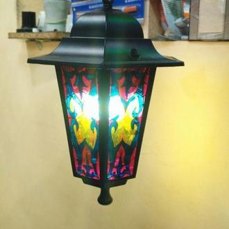 Светильник с росписью на стекле