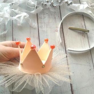 Корона для девочки, корона на заколке, корона на обруче, корона на повязке