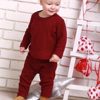 Тёплый детский костюм из шерсти