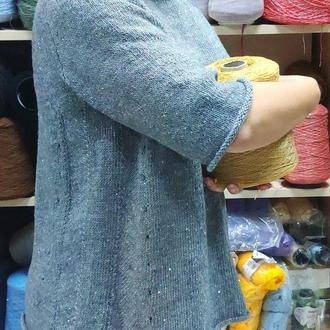 Джемпер женский вязаний с пайетками