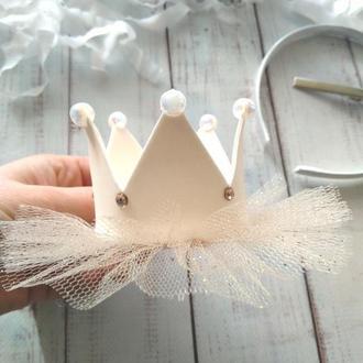 Корона для девочки, корона на заколке, корона на обруче