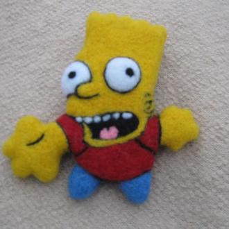 "Брошь из шерсти ""Симпсон"""