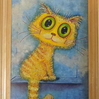 "Картина маслом ""Что там за окном?"""