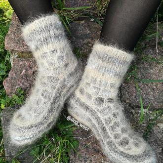 Шикарні пухнасті шкарпетки з собачої шерсті 36-37 теплые собачья шерсть шерстяные зимние