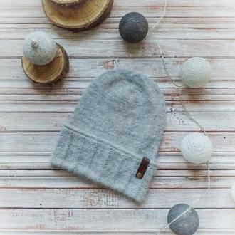 Ангоровая шапочка бини