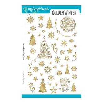 "Наліпки, наклейки, стикеры ""Golden Winter"""