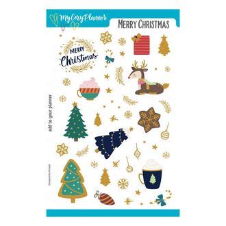 """Наліпки, наклейки, стикеры """"Merry Christmas"""""""