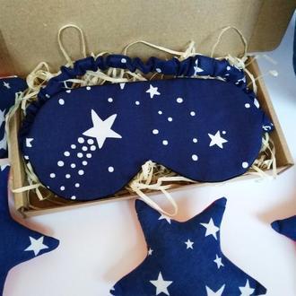 Маска для сна - созвездие Киев, маска для сна - галактика, маска для сну - зірки , повязка на глаза