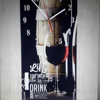 Часы с бокалом