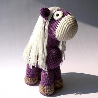 Мягкая детская игрушка дикий пони