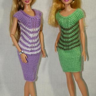Фиолетовое платье для Барби