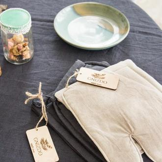 Набір прихваток з льону, прихватки для кухни,кухоннный набор, кухонные прихватки, лляні прихватки