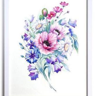 """Картина """"Букет Полевых Цветов"""" 20х30 см"""