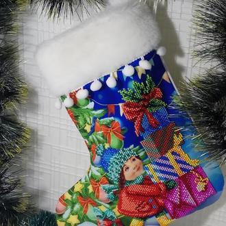 Сапожок рождественский, сапожок для подарков, сапожок для декора