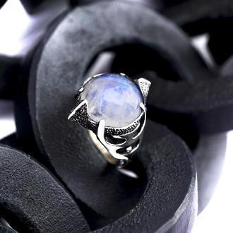 Кольцо из серебра 'OCEANIDA' | кольца с камнем | оригинальные кольца | авторское серебро