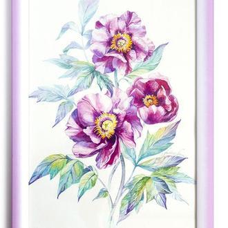 """Картина """"Букет Розовых Пионов"""" 20х30 см"""