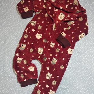 пижама Совушки, для мальчика, для девочки, комбинезон