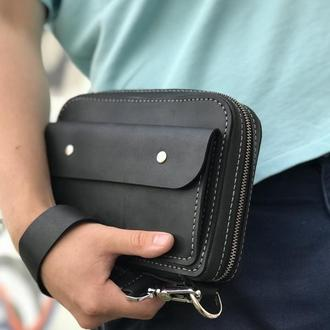 Чоловіча сумка / барсетка ; містка, з двома ручками