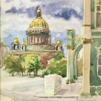 акварельная картина Петербург (Ленинград)