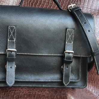 Мужской портфель (мессенжер) из натуральной кожи