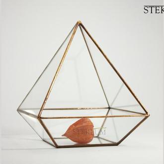 Флорариум №2 mini Egyptian pyramid Copper